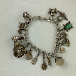 Jewelry - Vintage Charm Bracelet sterling silver